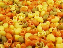 Multicolor italian pasta Royalty Free Stock Photo