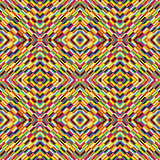 Multicolor kaleidoscope seamless background with optical effect Stock Photos