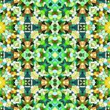 Multicolor kaleidoscopic seamless background stock illustration