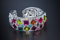 Multicolor klejnot bransoletka Zdjęcie Stock