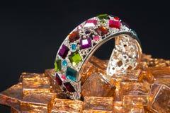 Multicolor klejnot bransoletka Fotografia Royalty Free