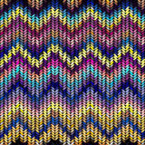 Multicolor knitted pattern Royalty Free Stock Photography