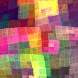Multicolor kolorowy w kratkę wzór dla tkaniny Fractal półdupki Zdjęcie Stock