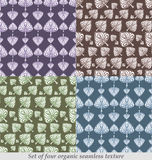 Multicolor leaves seamless pattern Royalty Free Stock Image