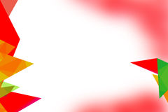 Multicolor left side overlap triangle , abstrack background Stock Photography