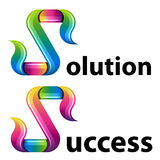 Multicolor letter S icons Stock Photo