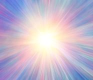 Multicolor Light Rays Background. Vivid abstract multicolored light rays explosion blur for background royalty free illustration