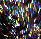 Light waves dancing around the atmosphere. Multicolor Light waves play in space. motion blur. Fun Camera trick. Party Scene, Rush of energies royalty free stock photography