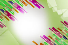 Multicolor line both corner, abstract background Royalty Free Stock Photos
