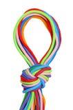 Multicolor linen rope Stock Photos