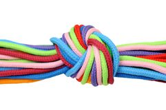 Multicolor linen rope Stock Photo