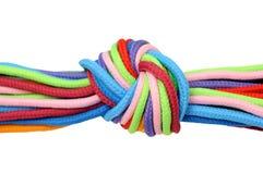 Multicolor linen rope Stock Photo