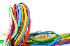 Multicolor linen rope Stock Images