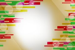 Multicolor lines on both side, abstract background Stock Photography