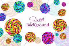 Multicolor lolipops as a background Royalty Free Stock Photos