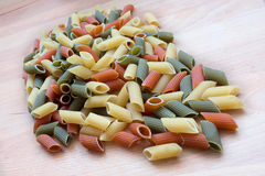 Multicolor macaroni Stock Photos
