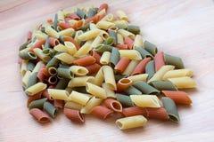 Multicolor macaroni Stock Photos