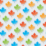 Multicolor maple leaves wallpaper. Stock Image