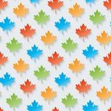 Multicolor maple leaves wallpaper. Stock Image