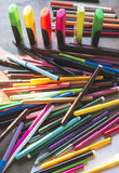 Multicolor markers for drawing Stock Photos