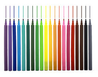 Multicolor markers with lines drawn Stock Images