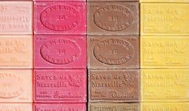 Multicolor Marseille Soaps stock image