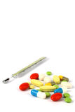Multicolor medical pills Royalty Free Stock Images