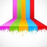 multicolor målarfärg Arkivfoto