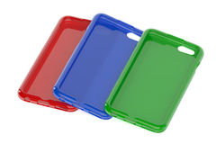 MultiColor Mobile Phone plastic cases Royalty Free Stock Images