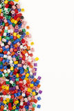 Multicolor Modelling Beads Edge Royalty Free Stock Photo