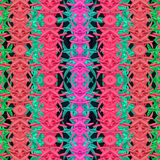 Multicolor Modern Oriental Abstract Pattern Stock Image