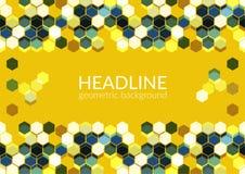 Multicolor modny horyzontalny geometryczny tło, sześciokąta abstrakta wzoru pole Fotografia Stock