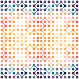Multicolor molekuł bezszwowy wzór Zdjęcie Royalty Free