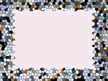 Multicolor mosaic frame  abstract background Royalty Free Stock Photography