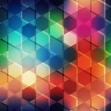 Multicolor mosaic seamless pattern. (eps 10 vector file Stock Photos