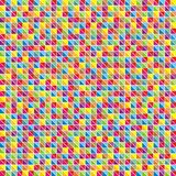 Multicolor mosaic of triangles Stock Photos