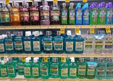 Multicolor mouthwash Royalty Free Stock Images