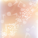 Multicolor music background Stock Photography