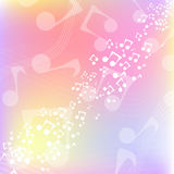 Multicolor music background Royalty Free Stock Photos