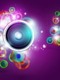 Multicolor Music Funky Background Stock Images