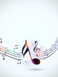 Multicolor Music Funky Notes Royalty Free Stock Image