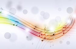 Multicolor Music Notes Royalty Free Stock Images