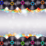 Multicolor Music Vinyl Background Royalty Free Stock Image