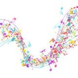 Multicolor Musical Design Stock Photo