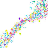 Multicolor Musical Design Stock Photography