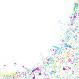 Multicolor Musical Design Stock Images