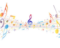Multicolor musical Royalty Free Stock Photos
