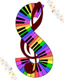 Multicolor musical Royalty Free Stock Photography
