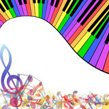 Multicolor musical Royalty Free Stock Photo