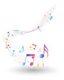 Multicolor musical note staff Royalty Free Stock Photo